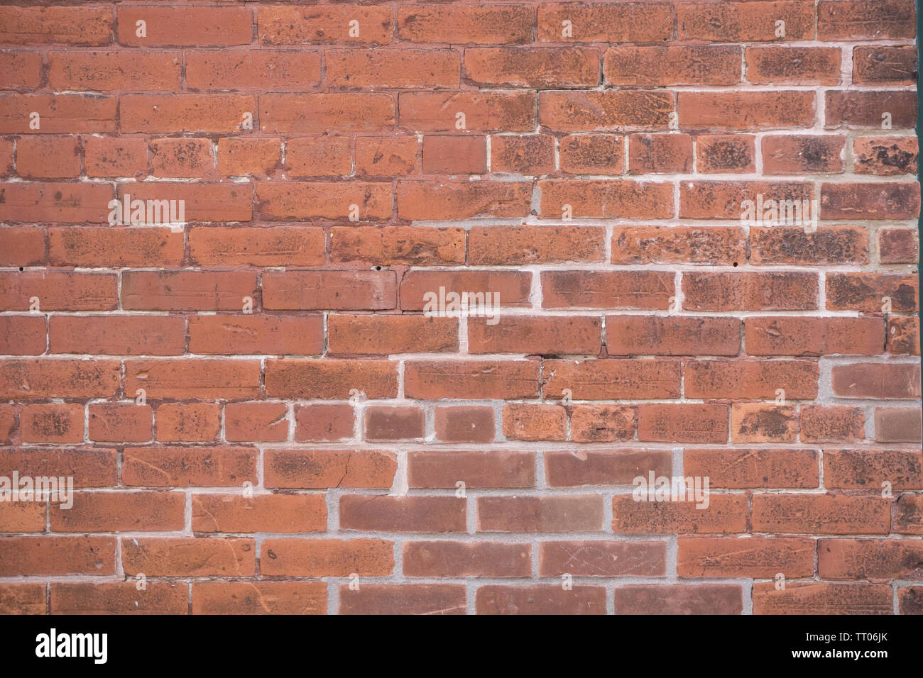 Canada Toronto - Stone Wall in Distillery District, June 2019 - Stock Image