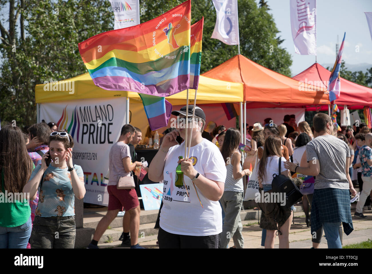Sofia, Bulgaria - June 08, 2019: Sofia Pride is the biggest annual event dedicated to the equality and human rights of all citizens and the biggest - Stock Image