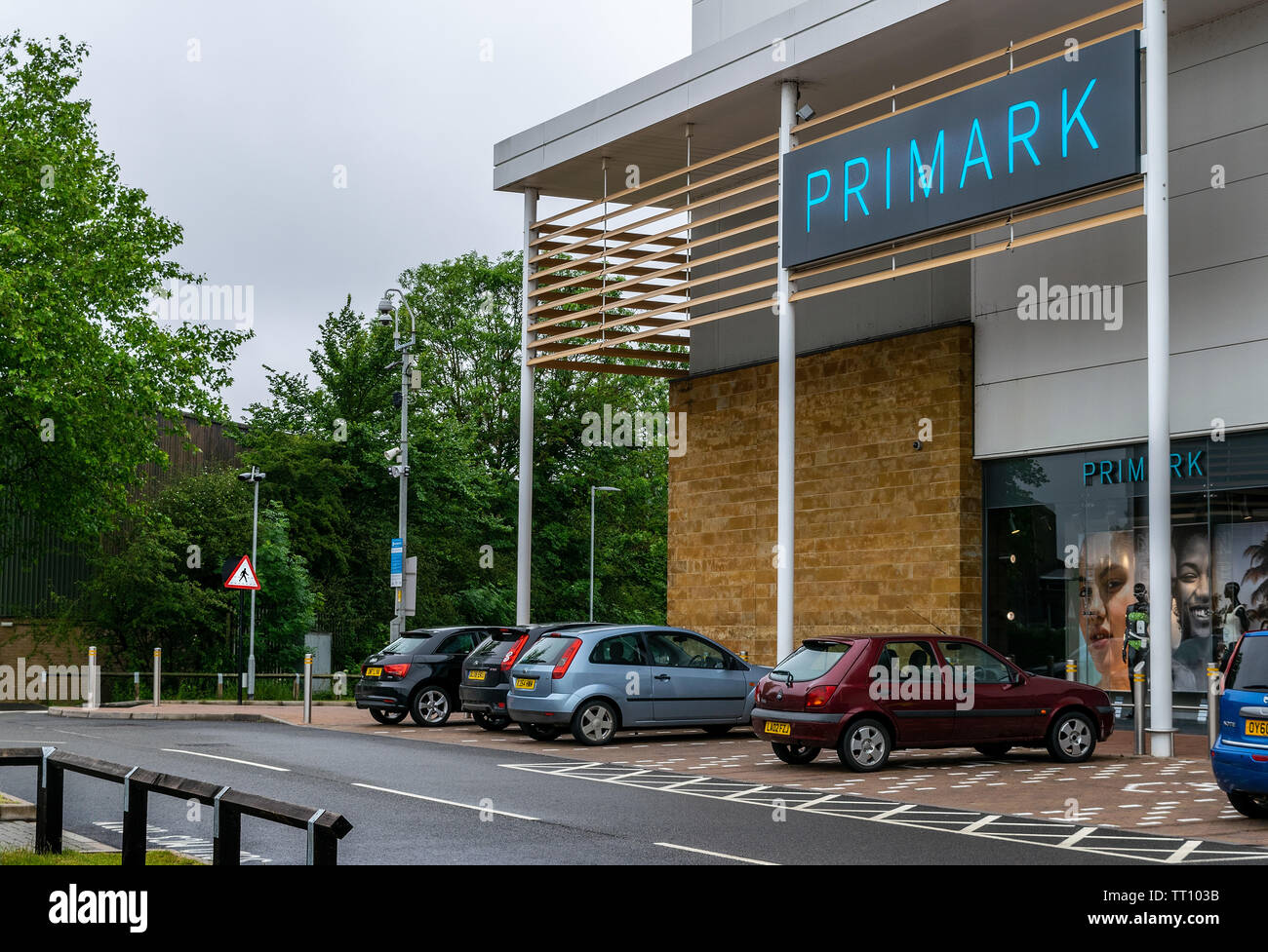 A view of the Gateway Shopping centre which is in Banbury, Oxfordshire, England, UK - Stock Image