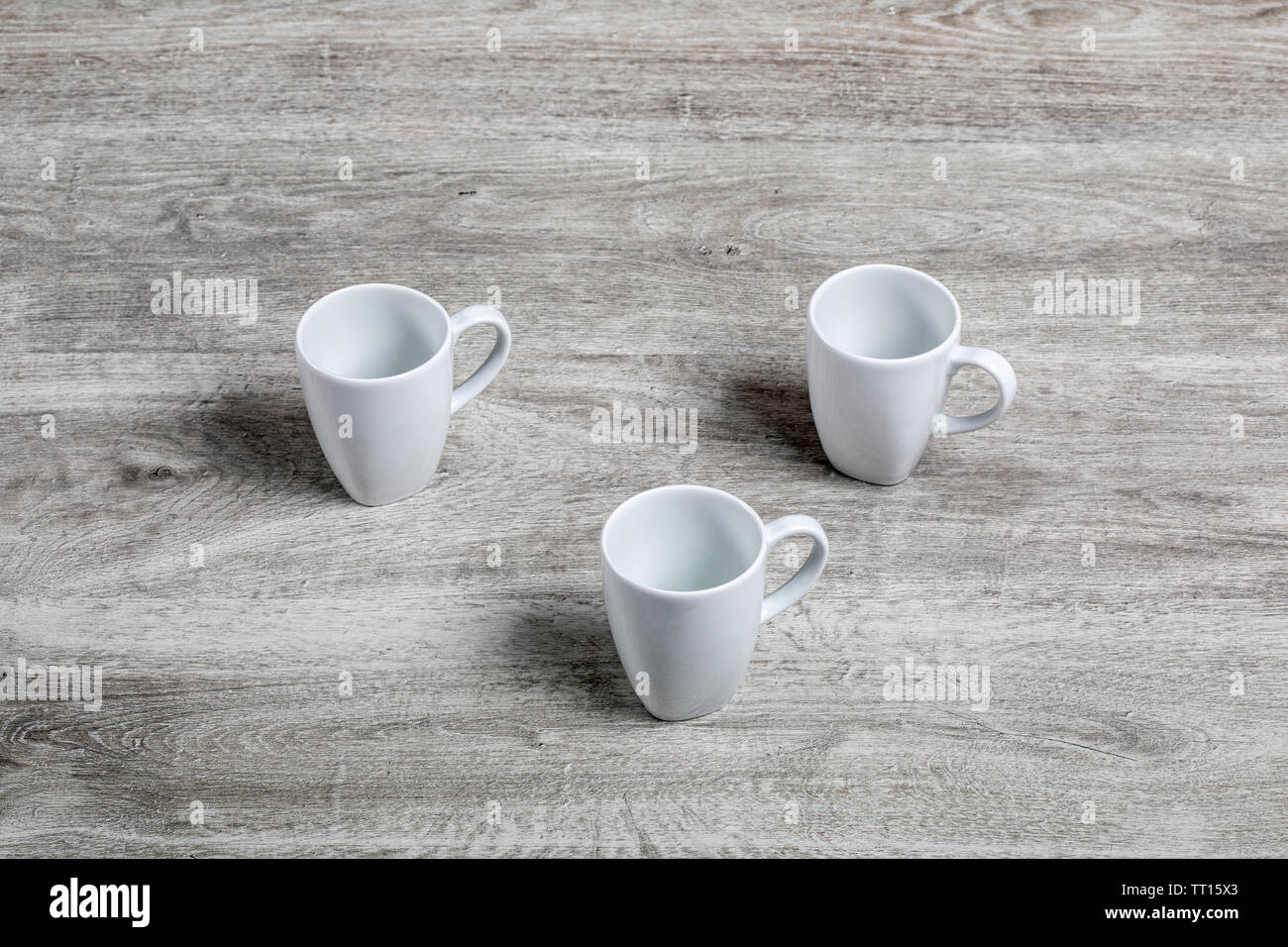 White beakers Stock Photo