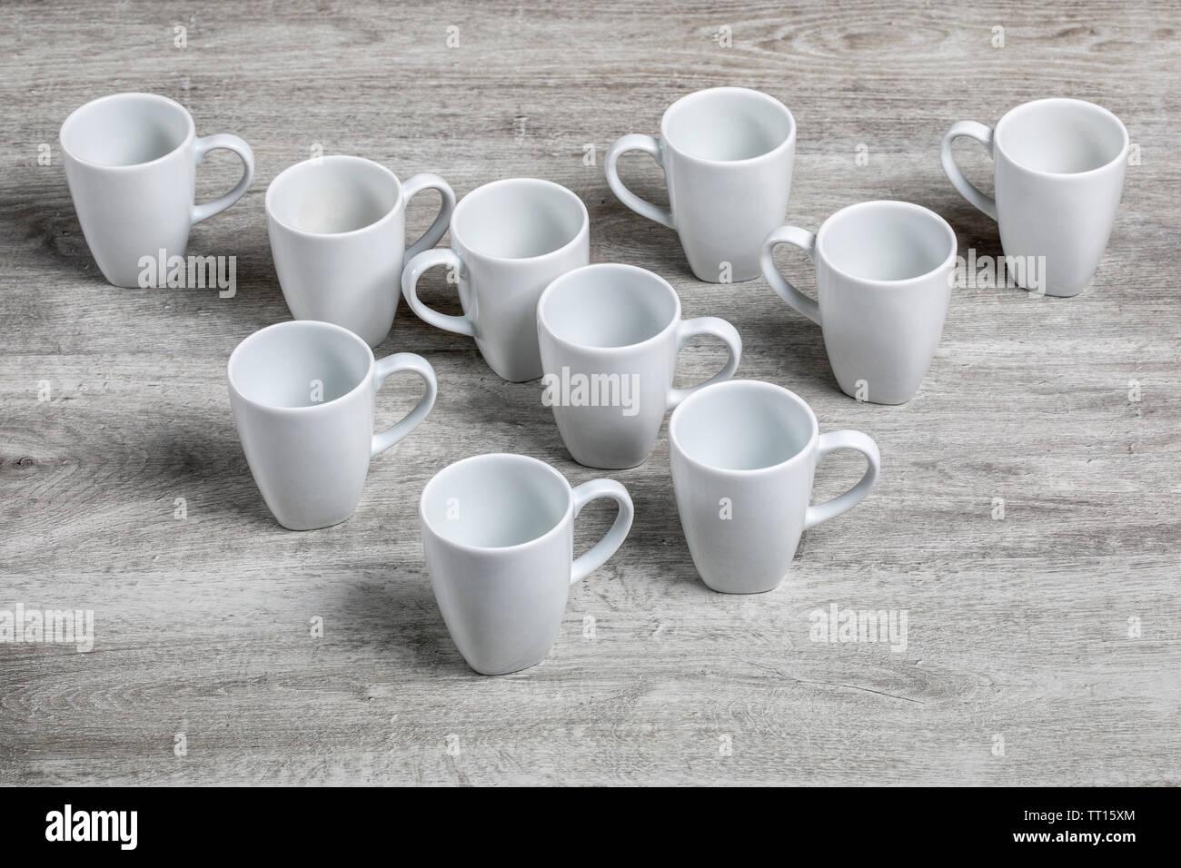 White beakers - Stock Image