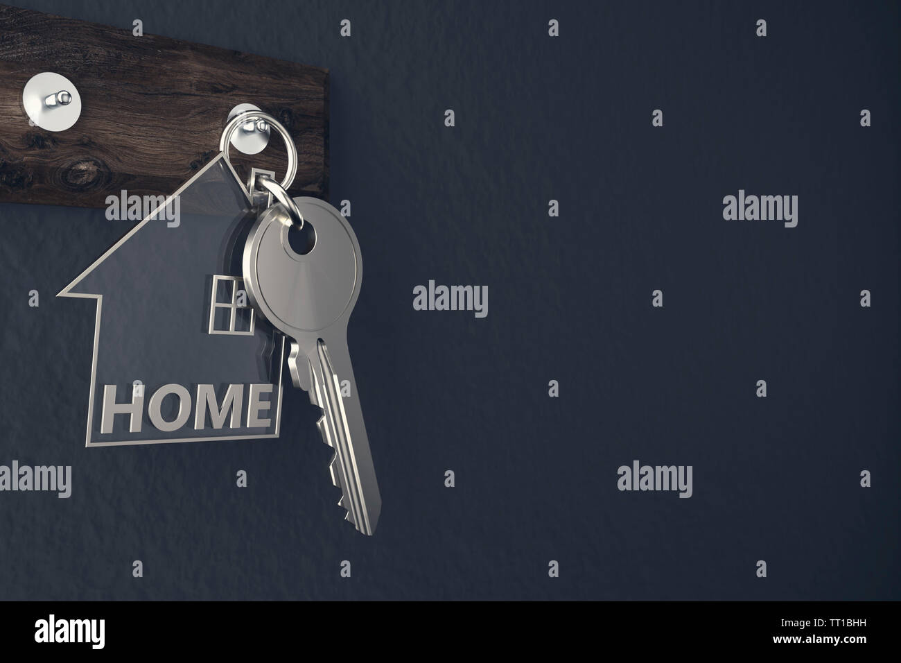 House Key - Illustration - Stock Image