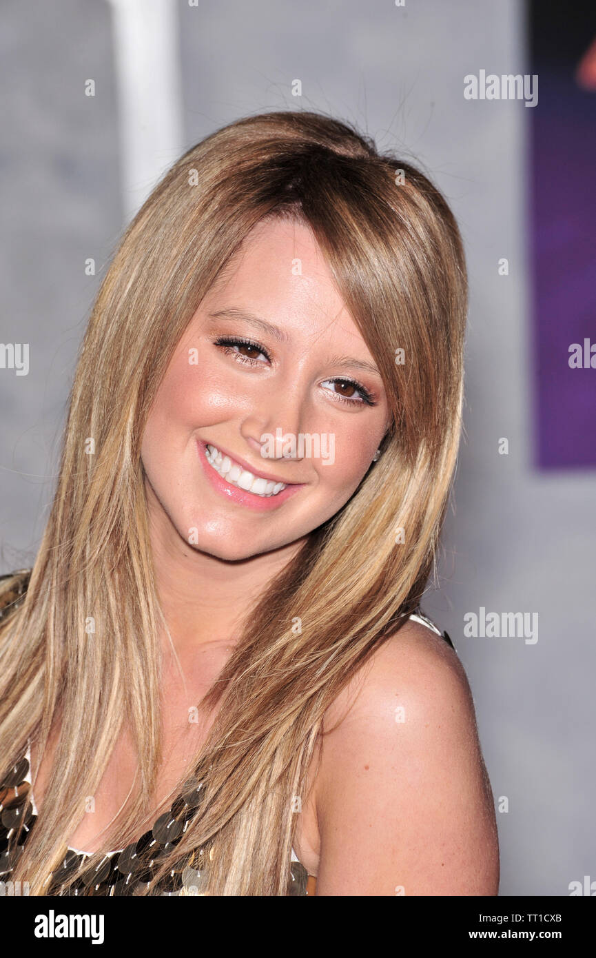 LOS ANGELES, CA  January 17, 2008: Ashley Tisdale at the world