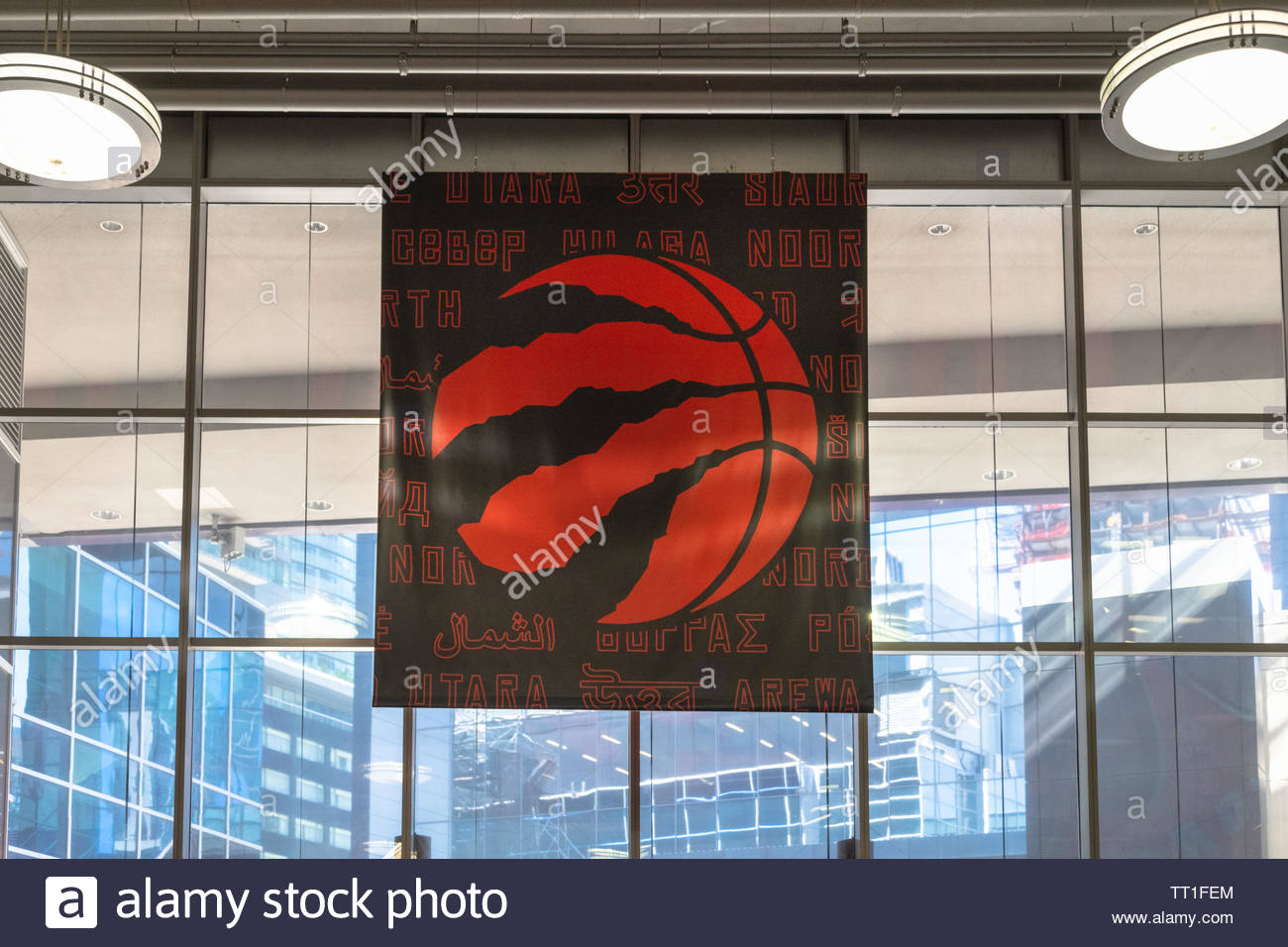 canada decorations as the raptors basketball team is playing the nba playoffs for the first time in history TT1FEM
