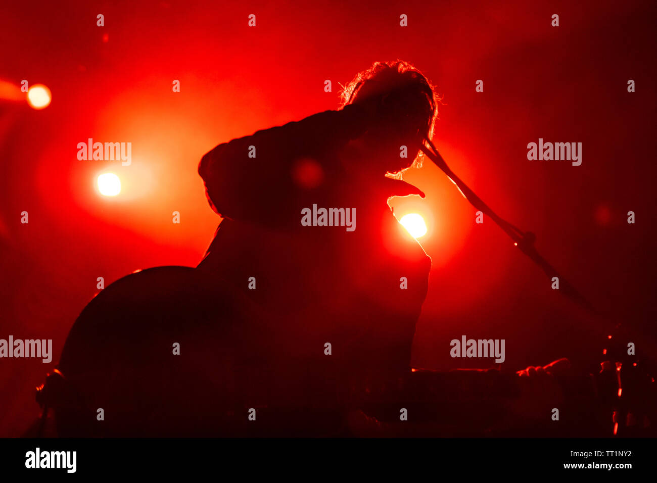 June 14th 2019. Zagreb, Croatia: Concert of American rock band Black Rebel Motorcycle Club from San Francisco, California in Zagreb Stock Photo