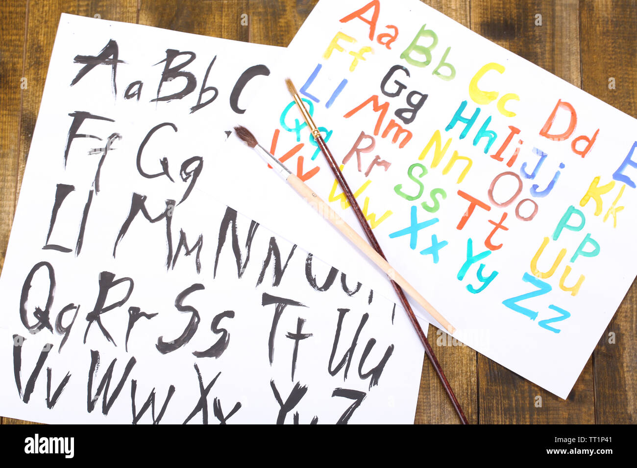 Graffiti Font Alphabet Stock Photos & Graffiti Font Alphabet