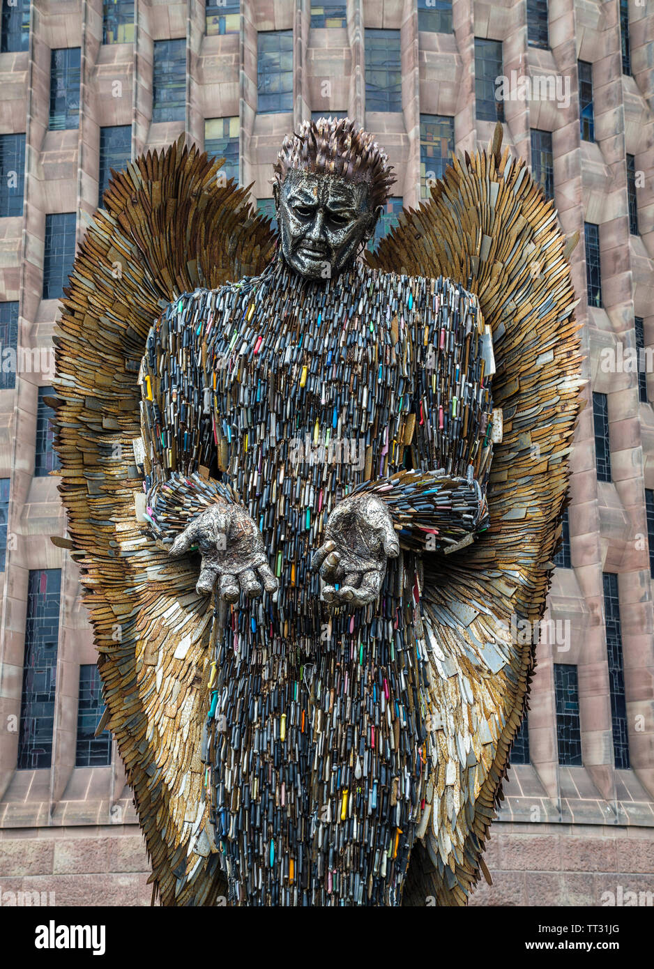 The Knife Angel Visits Coventry Stock Photo