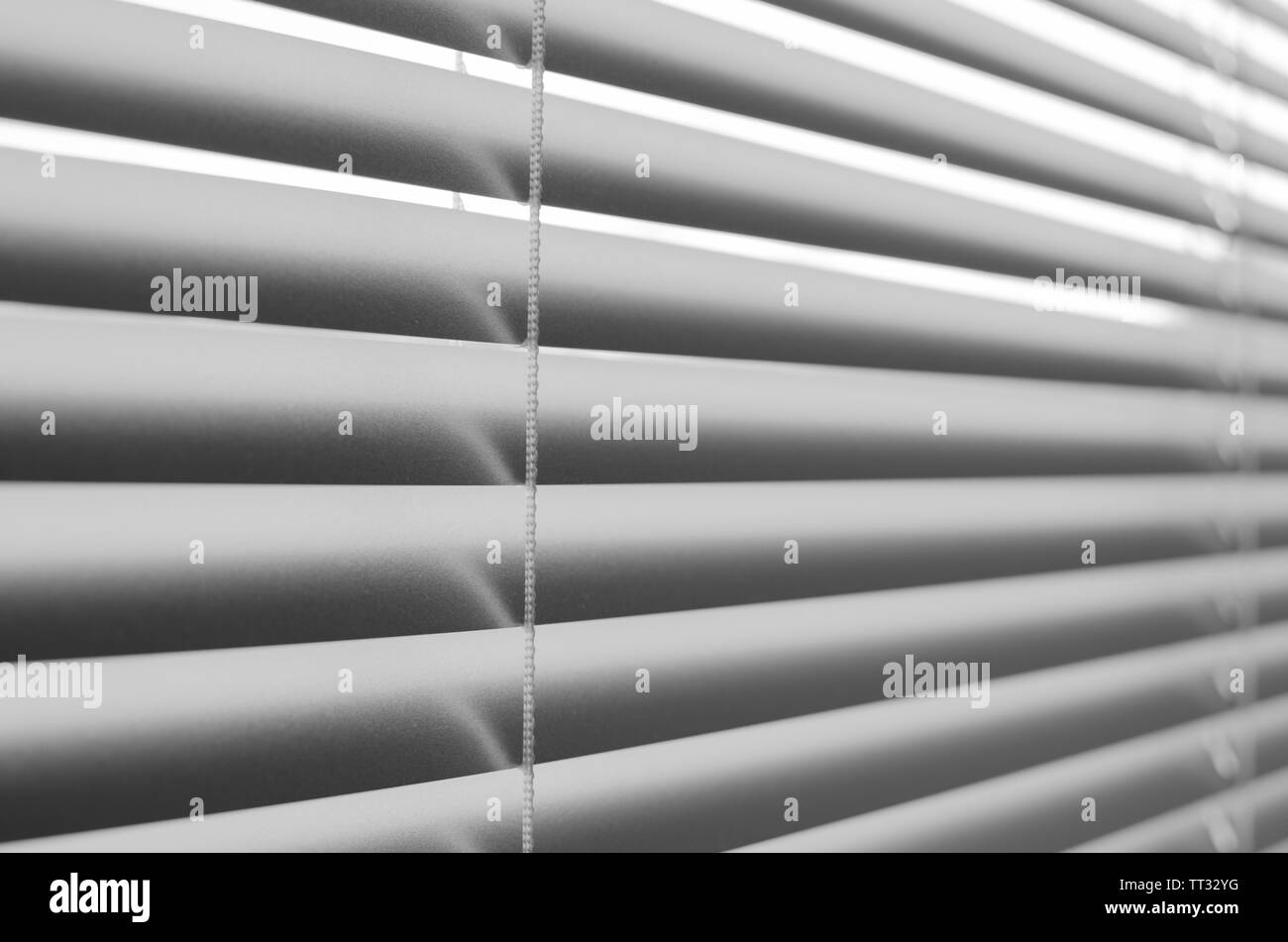 Abstract grey background of horizontal lines, blinds - Stock Image