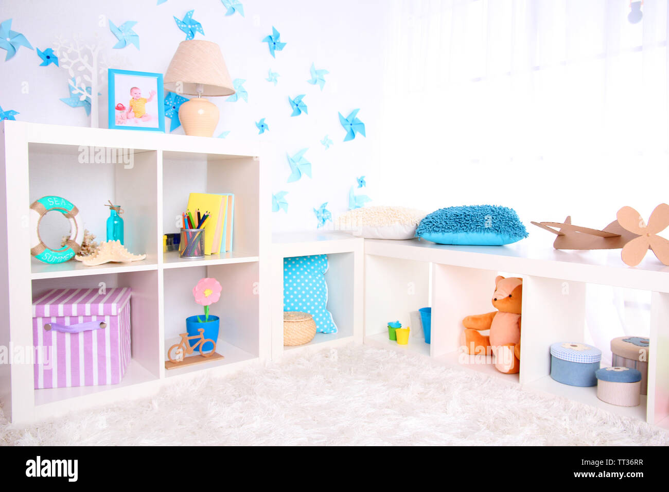 Modern playroom for children - Stock Image