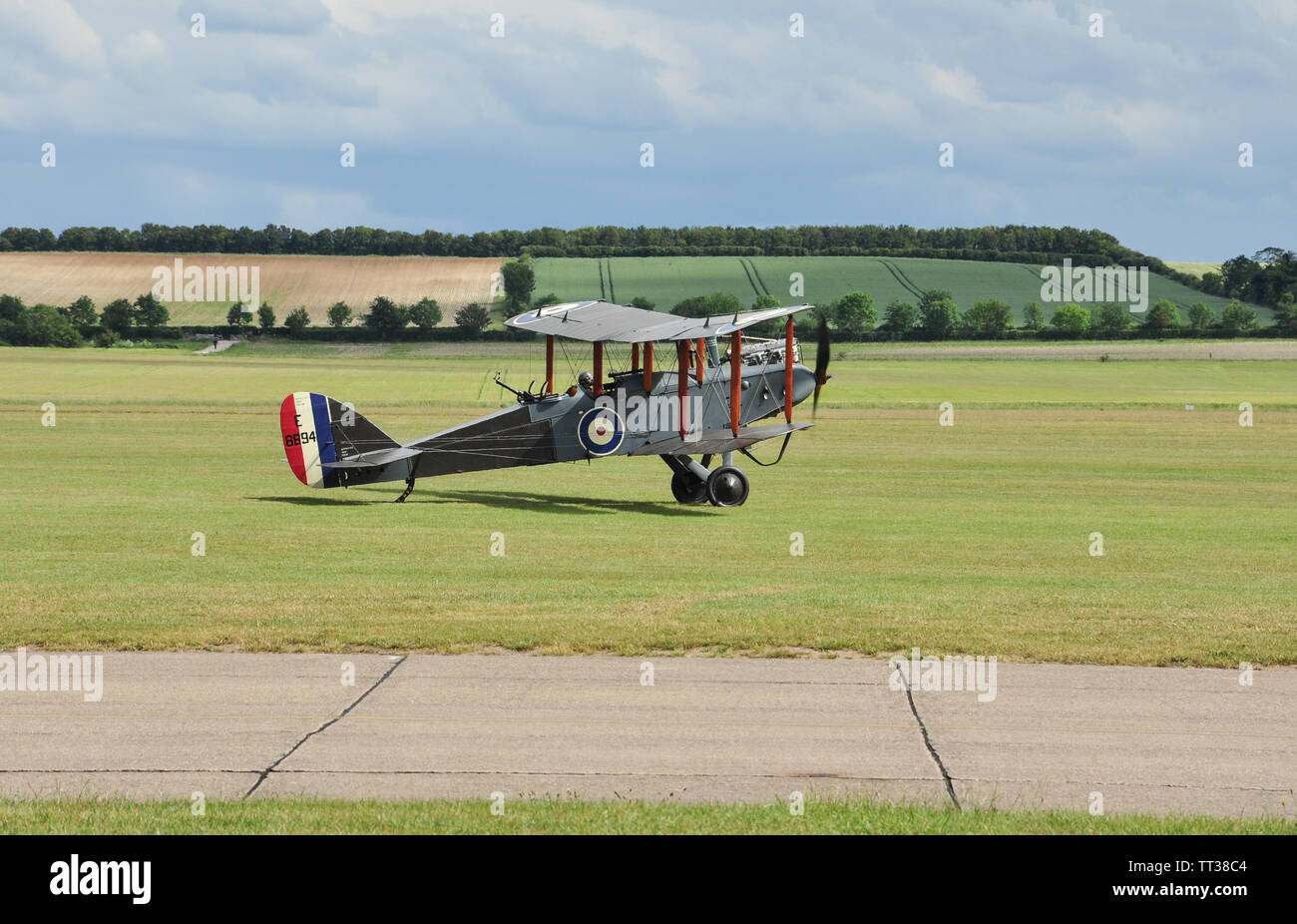 Airco / De Havilland DH-9 (E-8894) about to take off, Duxford, Cambridgeshire, England, UK. - Stock Image