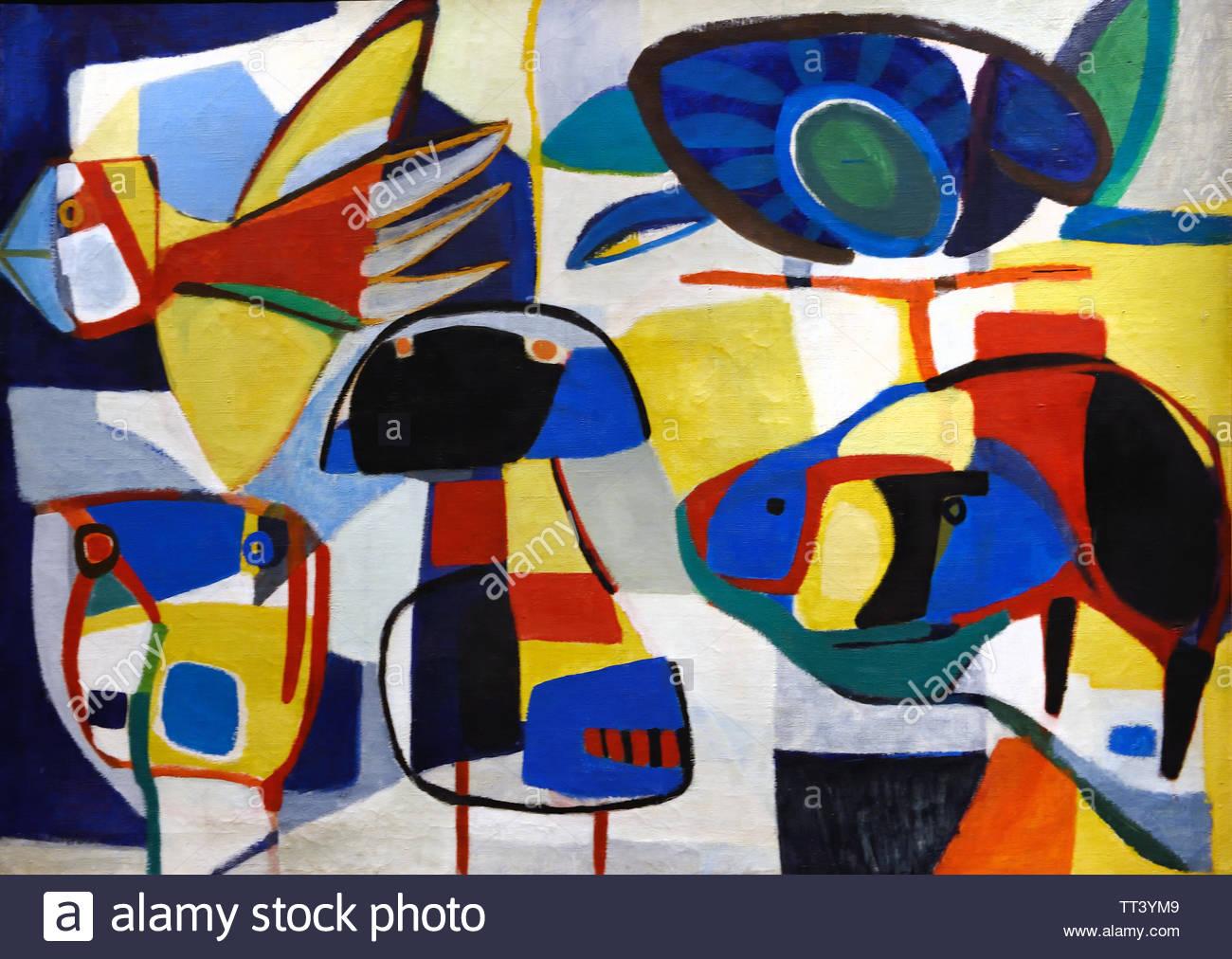 La vie Corolee by Karel Appel born in 1921 Dutch painter