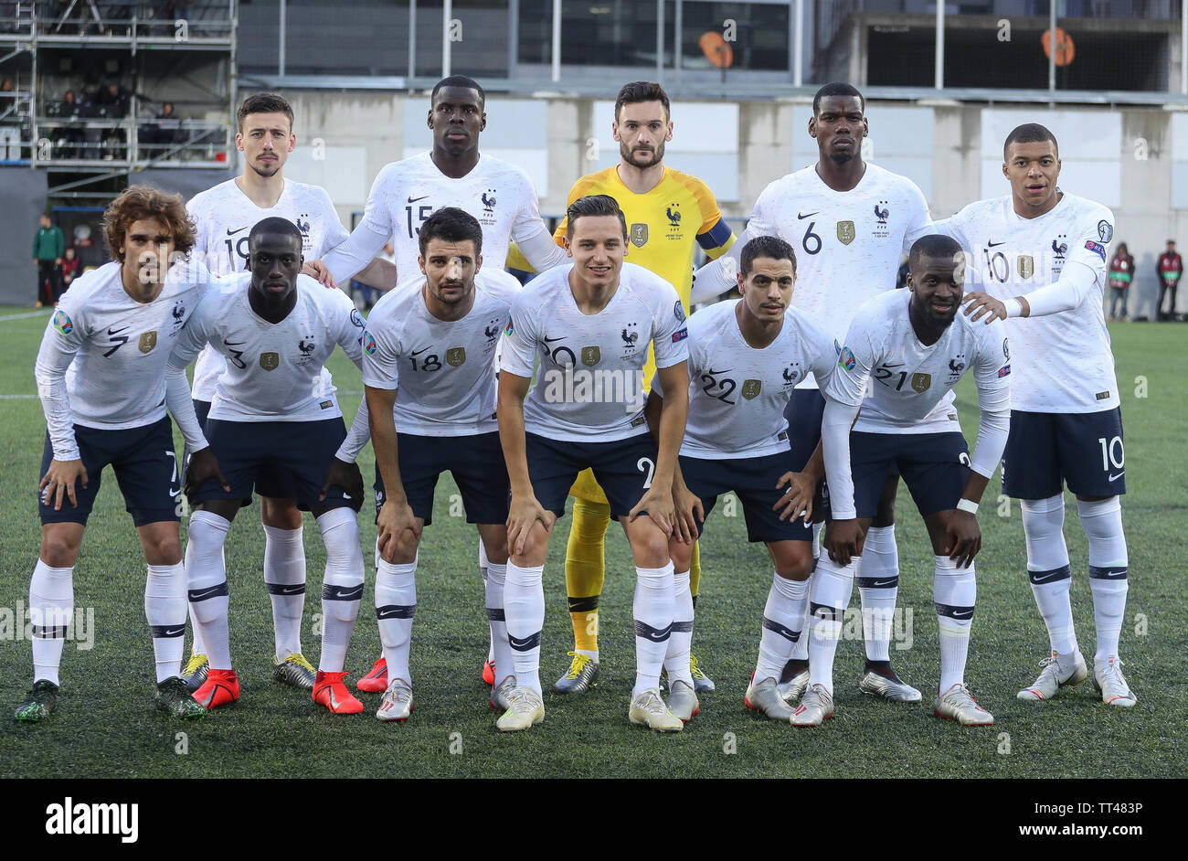 Team France during the UEFA Euro 2020 Qualifying Group H football match between Andorra and France on June 11, 2019 at Estadi Nacional in Andorra la Vella, Andorra - Photo Laurent Lairys / DPPI Stock Photo