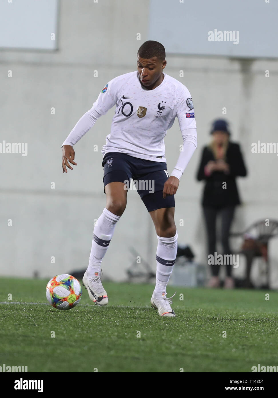 Kylian Mbappé of Franceduring the UEFA Euro 2020 Qualifying Group H football match between Andorra and France on June 11, 2019 at Estadi Nacional in Andorra la Vella, Andorra - Photo Laurent Lairys / DPPI Stock Photo
