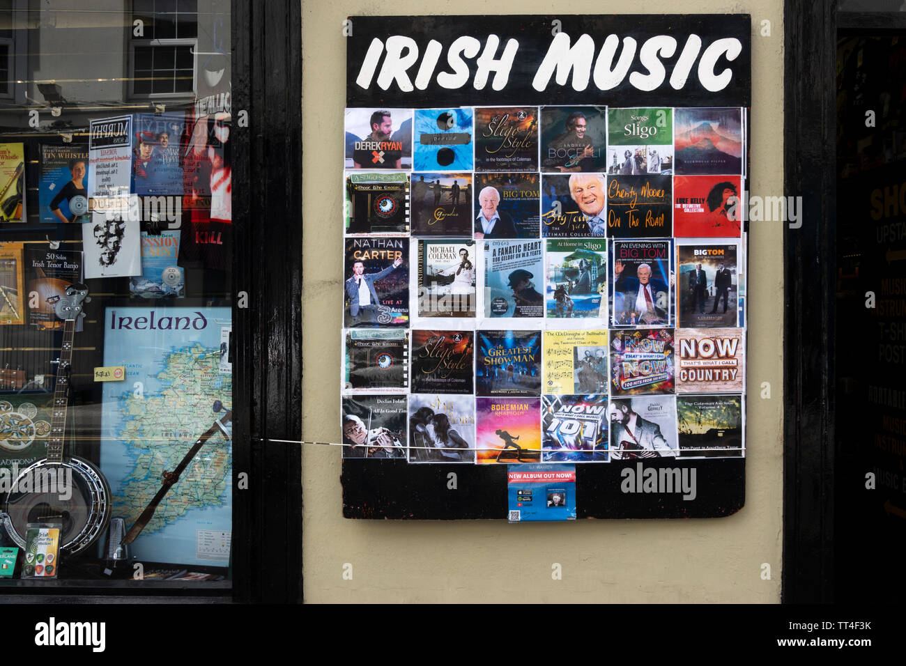 The Record Room shop specializing in traditional Irish music in Sligo, Ireland - Stock Image