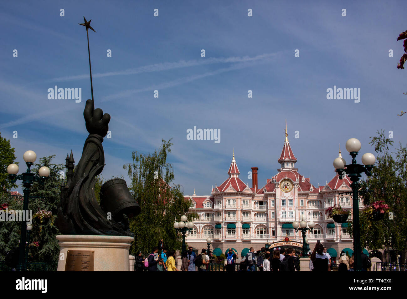 A view of the Disneyland Hotel at Disneyland Paris. Lewis Mitchell Stock Photo