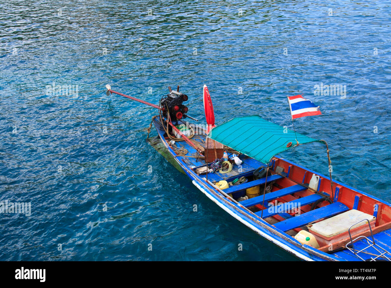 Traditional Thai longtail boat - Stock Image
