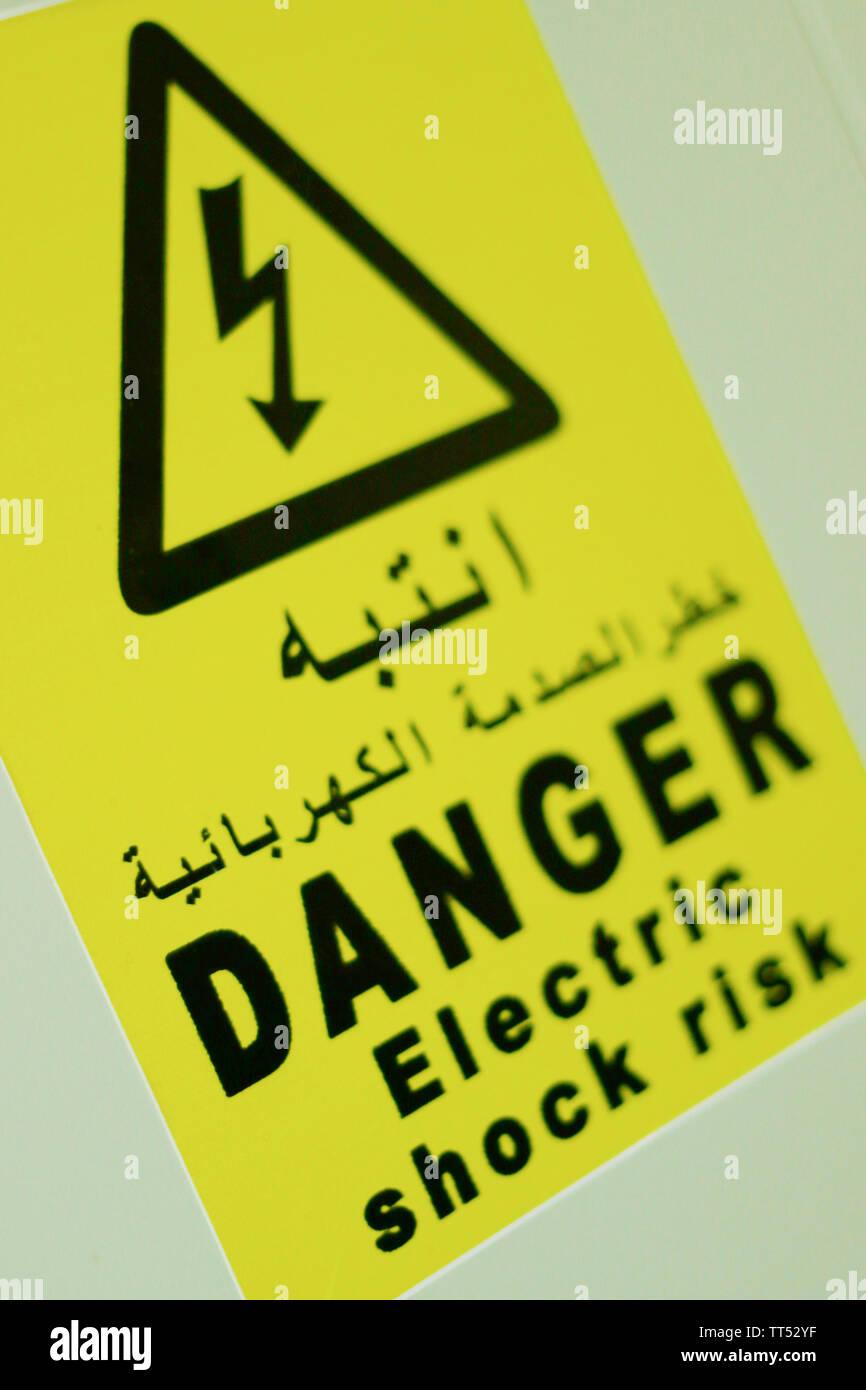 Risk Of Electrical Shock Danger Of Death Stock Photos & Risk