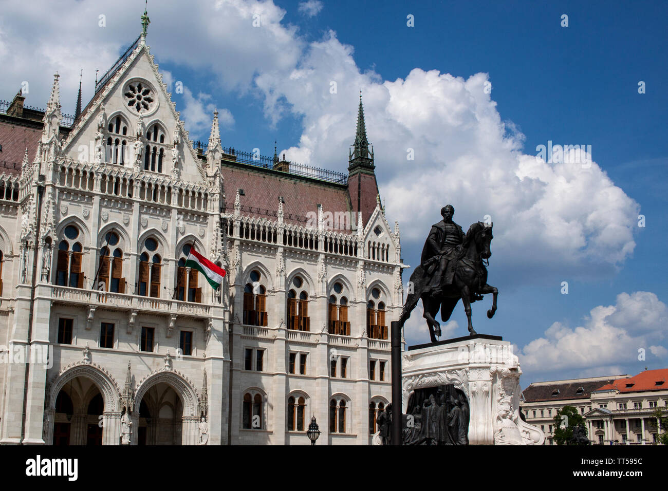 A view of the Hungarian Parliament building. Lewis Mitchell. - Stock Image
