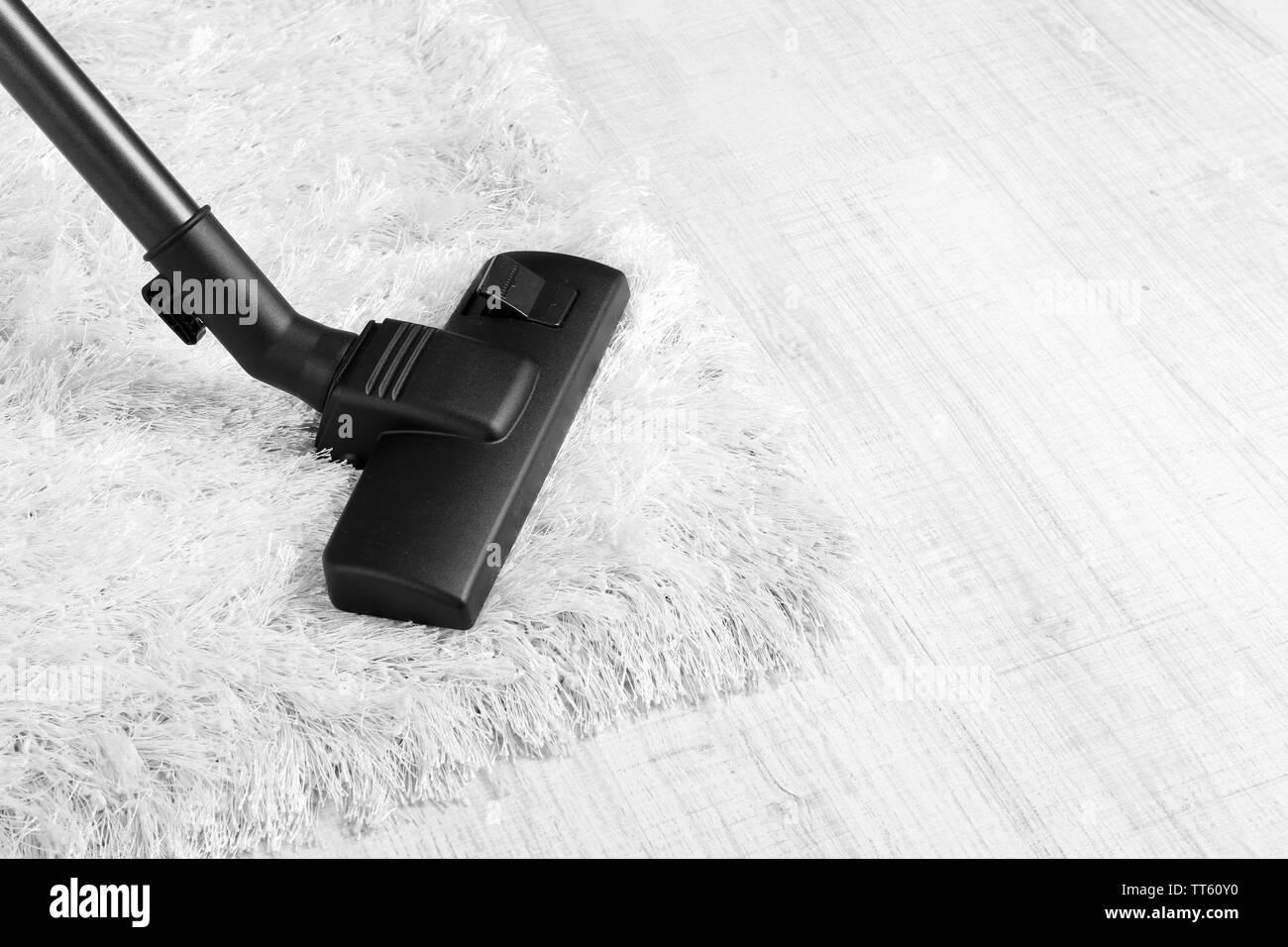 Vacuum cleaner carpet - Stock Image