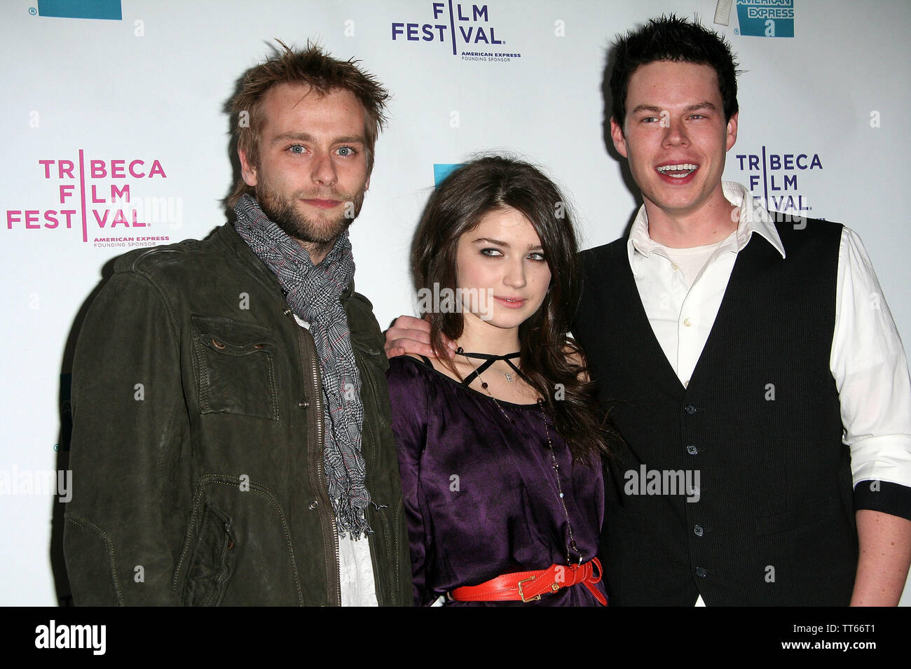 New York, USA. 26 April, 2008. Joe Anderson, Eve Hewson, David P. Emrich at the Premiere Of 'The 27 Club' At The 2008 Tribeca Film Festival at AMC Theater. Credit: Steve Mack/Alamy - Stock Image