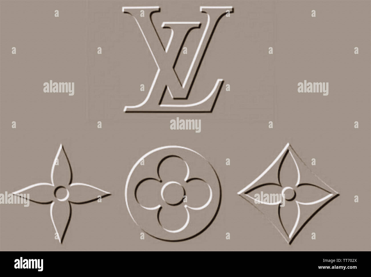 Louis Vuitton Wallpaper Background Iconic Luxury Brand Stock Photo Alamy