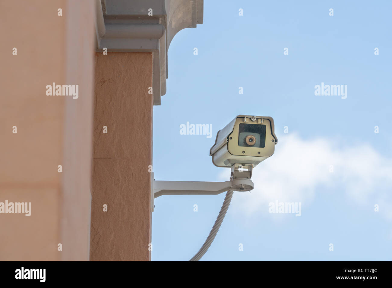 cctv security camera or home surveillance cameras video protection safety system guard - Stock Image