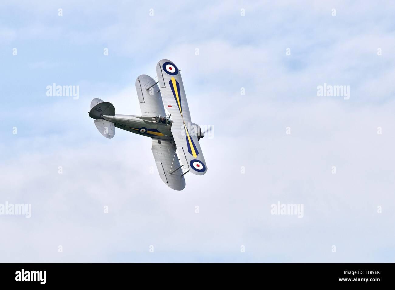 1938 Gloster Gladiator - Stock Image