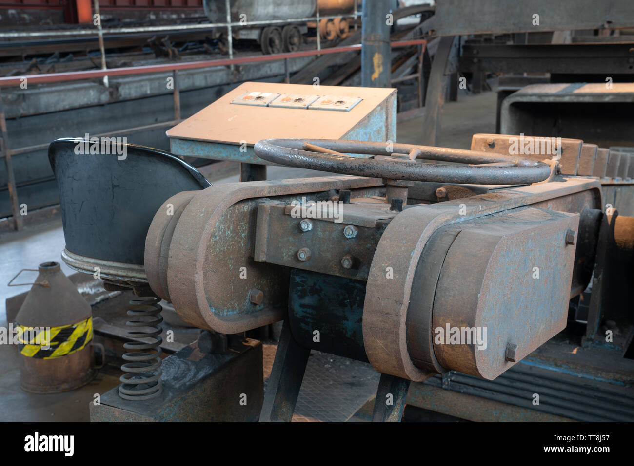 ESSEN, GERMANY - APRIL 7, 2019: Detail image of Zeche Zollverein, industrial heritage of Germany on April 7, 2019 in Essen - Stock Image