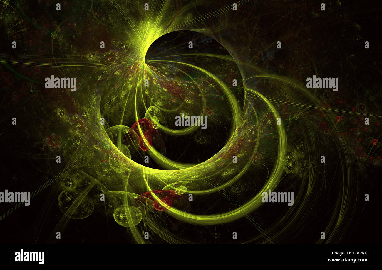 Color of waving smoke in the abstract background. Illustration wave design. Modern glowing shape design. Energetic Light Tracks and effects. Luminous - Stock Image