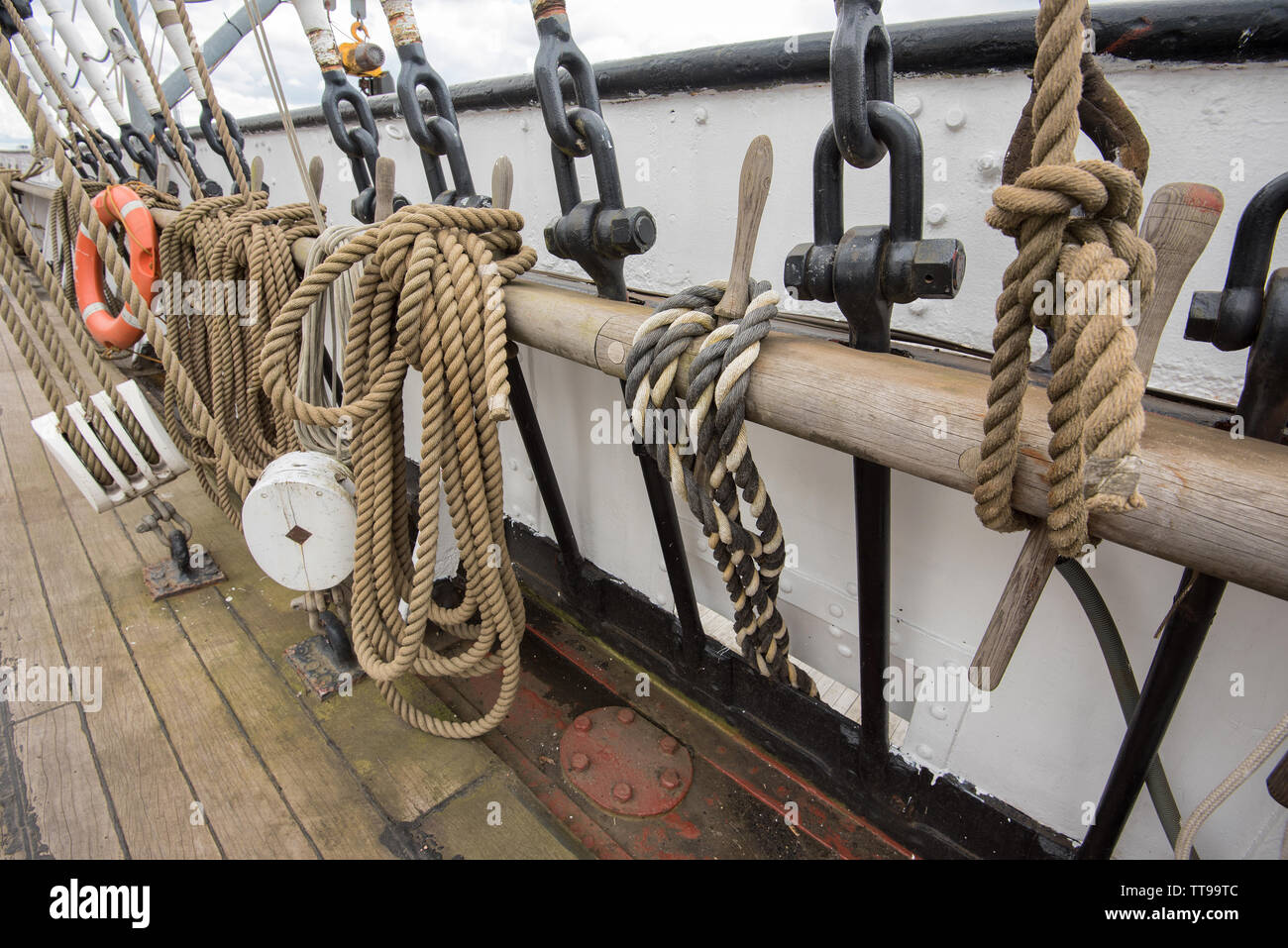 The principal exhibit, the Tall Ship. at Riverside Museum - Stock Image