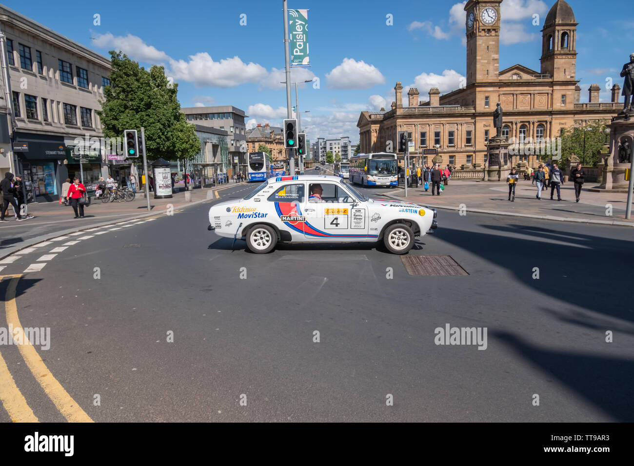 Paisley, Scotland, UK. 15th June, 2019. Paisley Carfest 2019 which this year celebrates it's 6th anniversary. On show are a range of classic vehicles, vintage cars, specialist custom cars, muscle cars, supercars and emergency vehicles. All funds raised on the day go to support St. Vincent's Hospice in Howwood. Credit: Skully/Alamy Live News Stock Photo