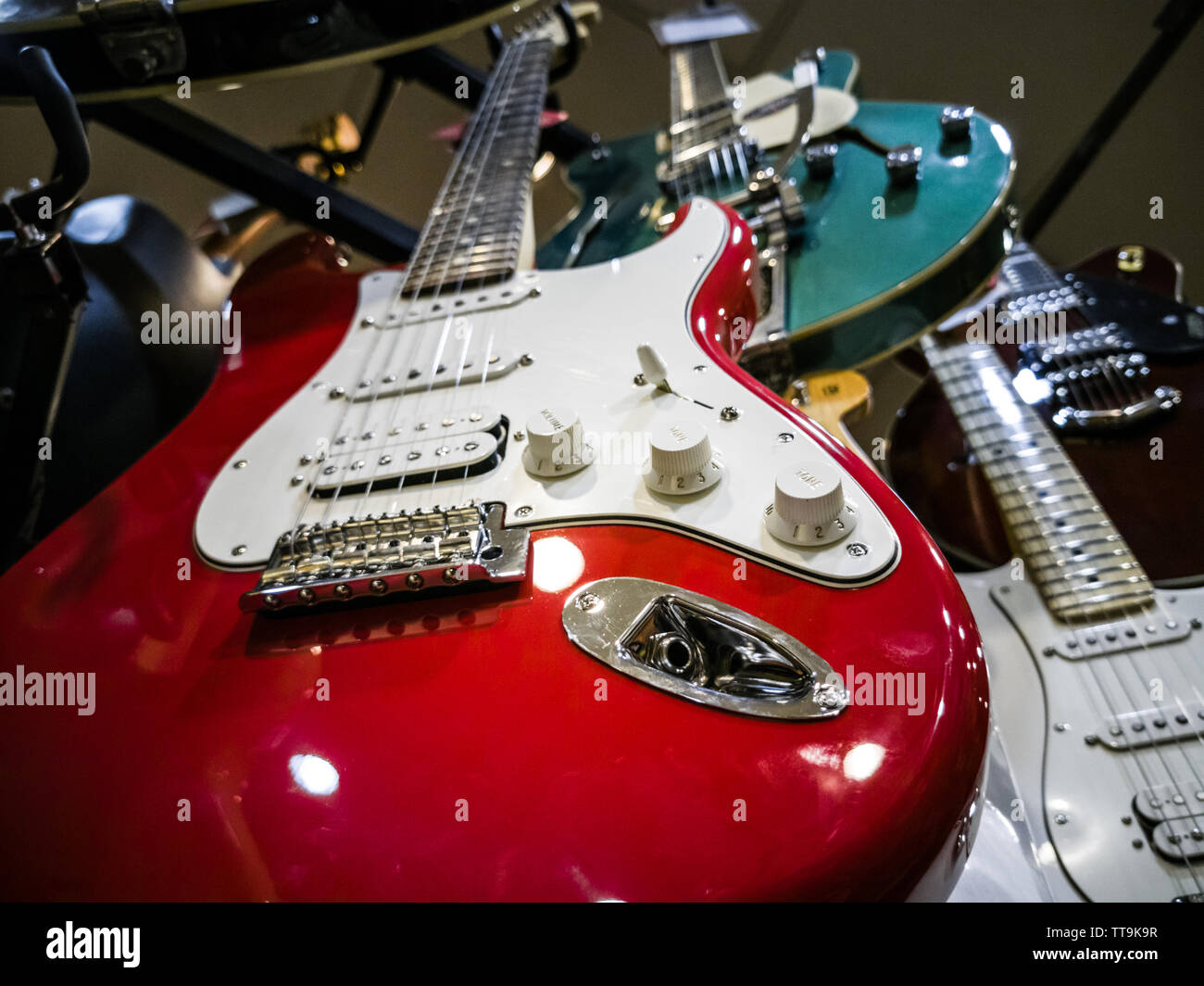 Red Stratocaster Stock Photos & Red Stratocaster Stock