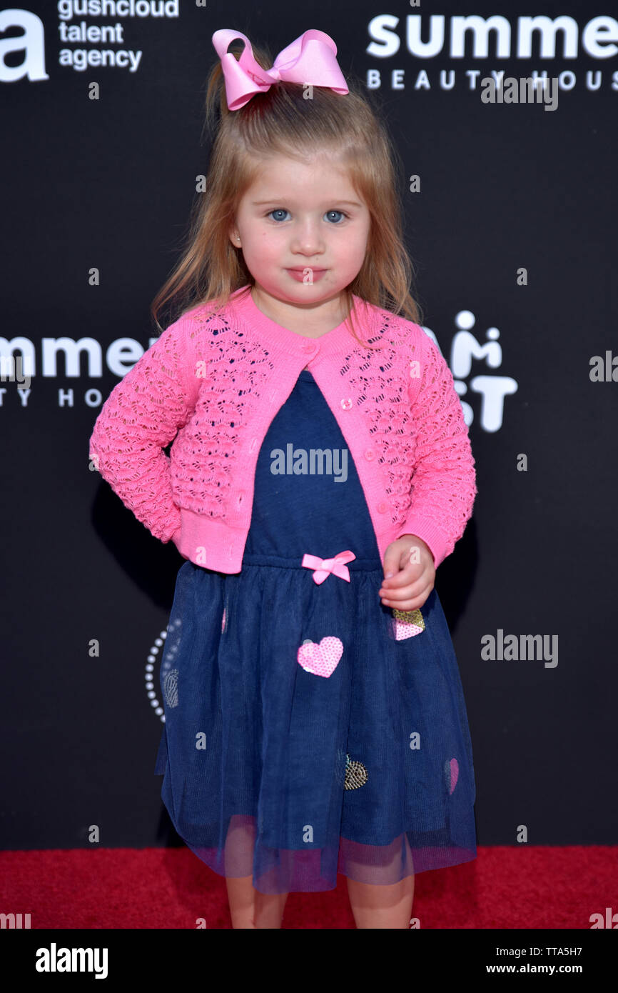 STUDIO CITY, CALIFORNIA - JUNE 10: Brooklynn Hennessey attends Gushcloud Los Angeles Opening Party at Gushcloud Studio on June 10, 2019 in Studio City - Stock Image