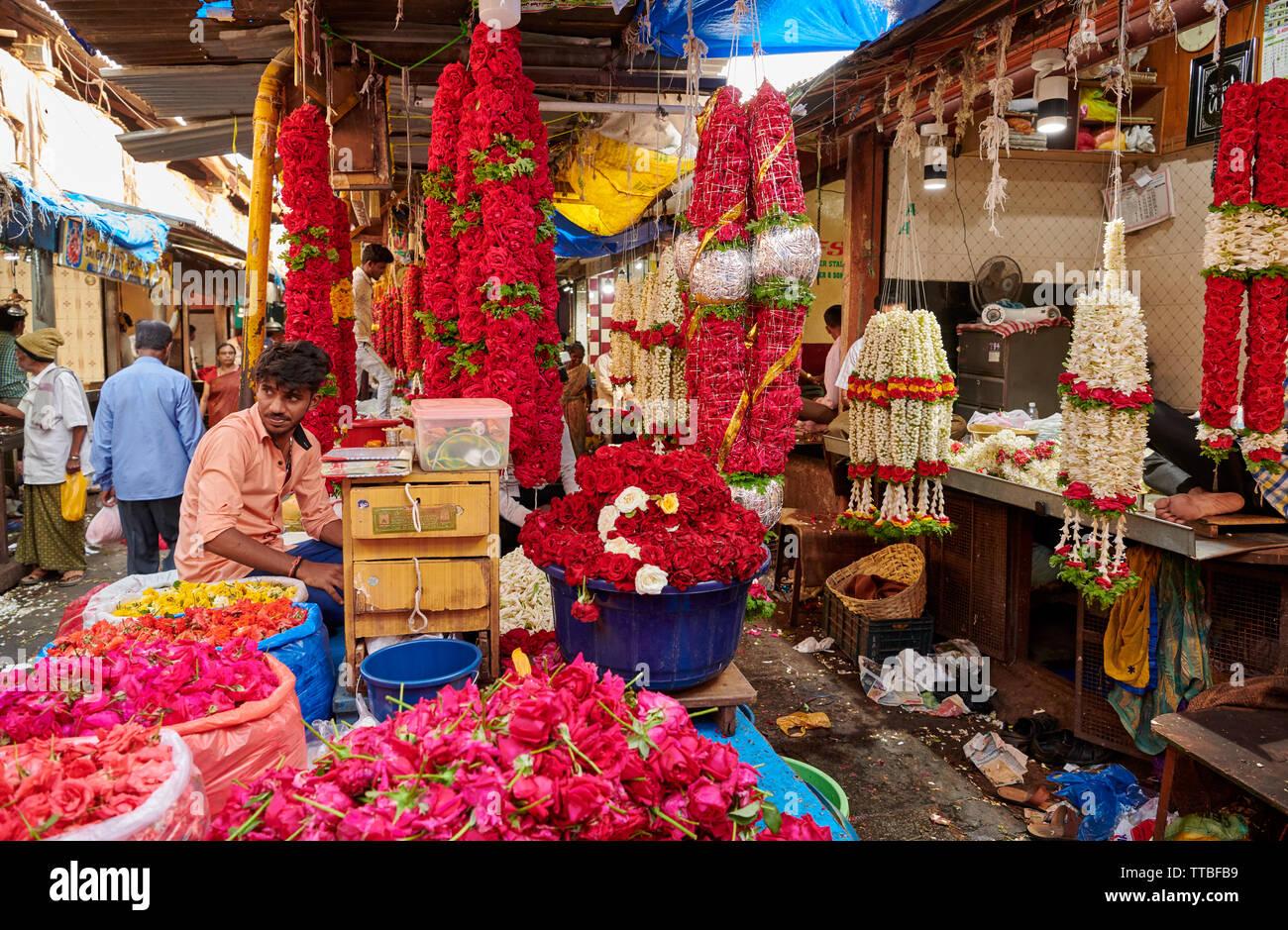 Mysore Flower Market Stock Photos & Mysore Flower Market