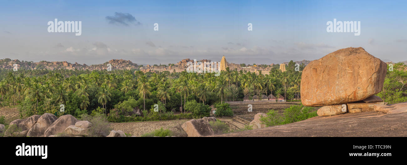 A view over Hampi, India. - Stock Image