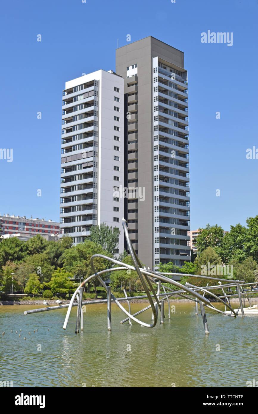 Diagonal Mar Park in Barcelona Stock Photo