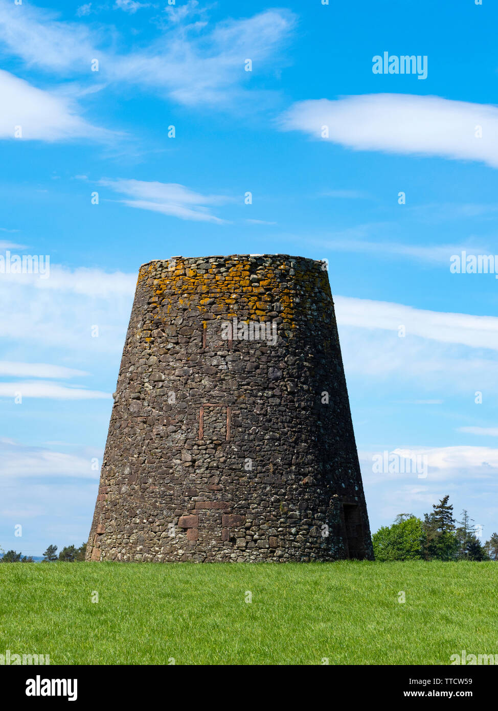 Remains of an old windmill - Stock Image