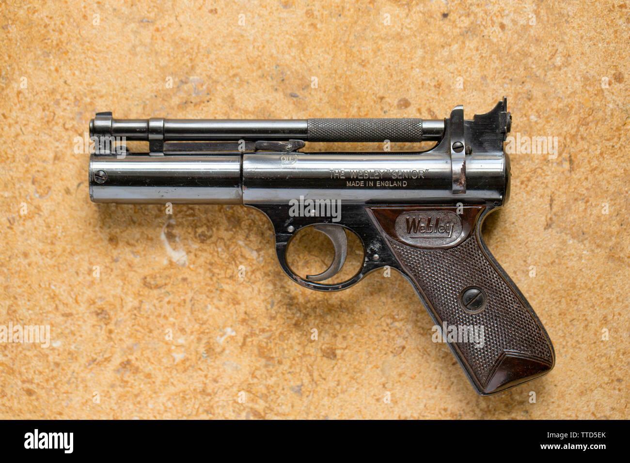 Webley Pistol Stock Photos & Webley Pistol Stock Images - Alamy