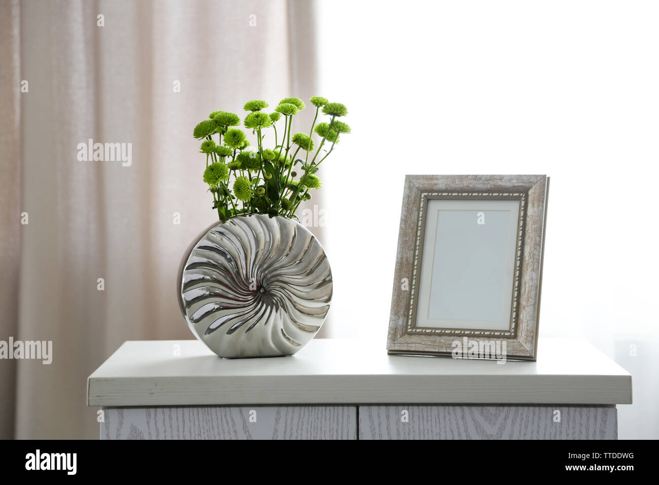 Home decor in a room - Stock Image