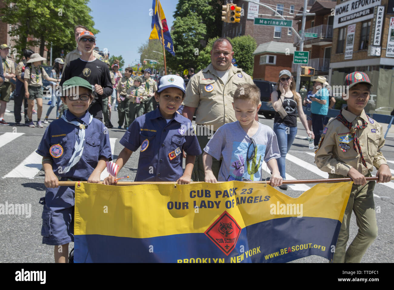 Cub Scouts Parade Stock Photos & Cub Scouts Parade Stock