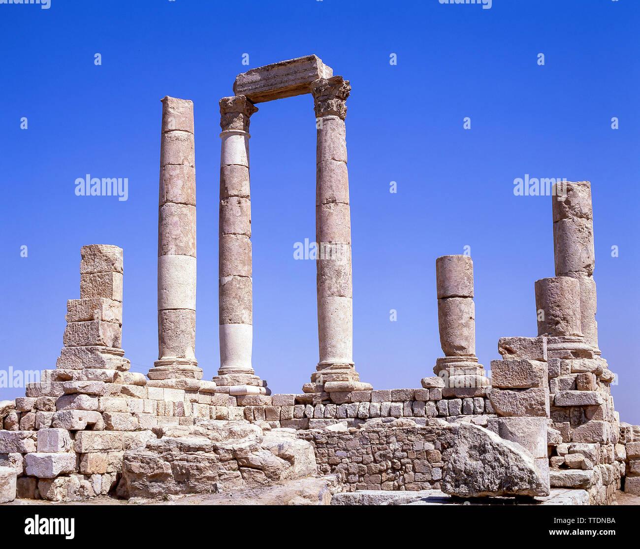 Temple of Hercules, The Citadel, Amman, Kingdom of Jordan Stock Photo