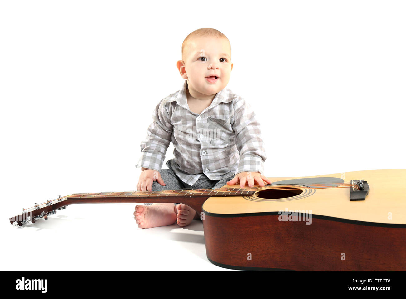 Baby With Guitar Stock Photos & Baby With Guitar Stock