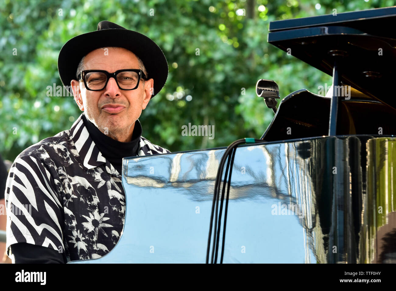 Jeff Goldbloom performing on stage at the BottleRock Festival 2019, Napa Valley, California. Stock Photo