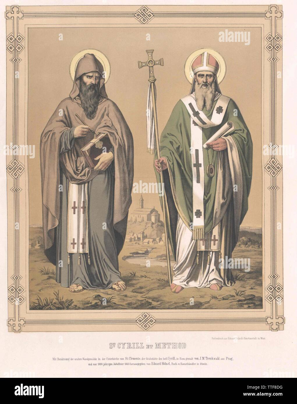 Cyril, saint apostles to the Slavs, Additional-Rights-Clearance-Info-Not-Available - Stock Image