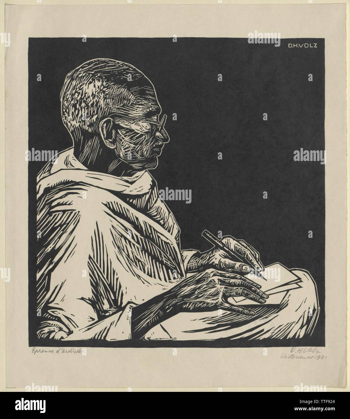 Gandhi, Mohandas Karamchand, Additional-Rights-Clearance-Info-Not-Available - Stock Image