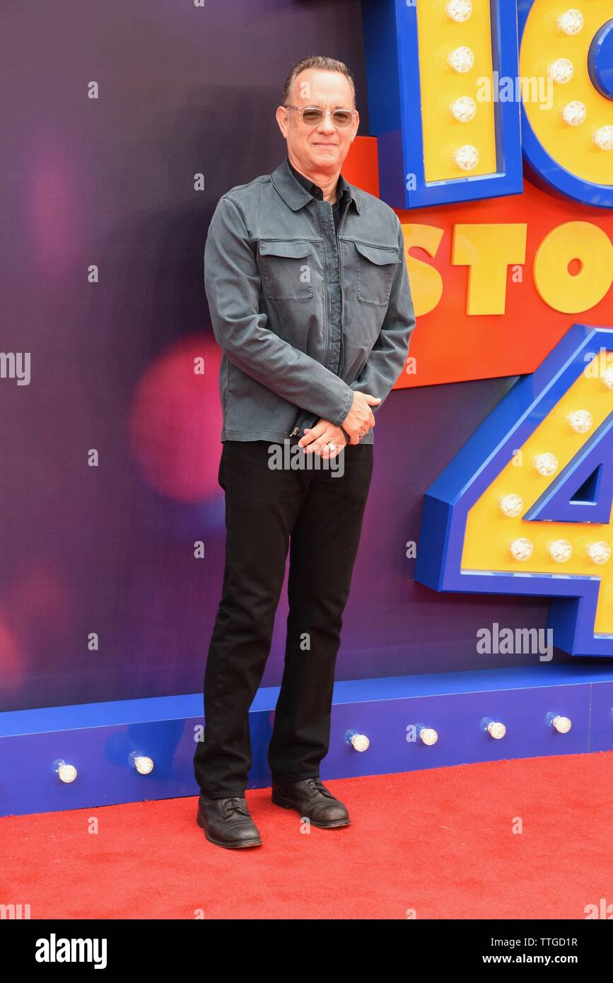 Tom Hanks, Toy Story 4 European Premiere, Odeon Luxe, Leicester Square, London - Stock Image