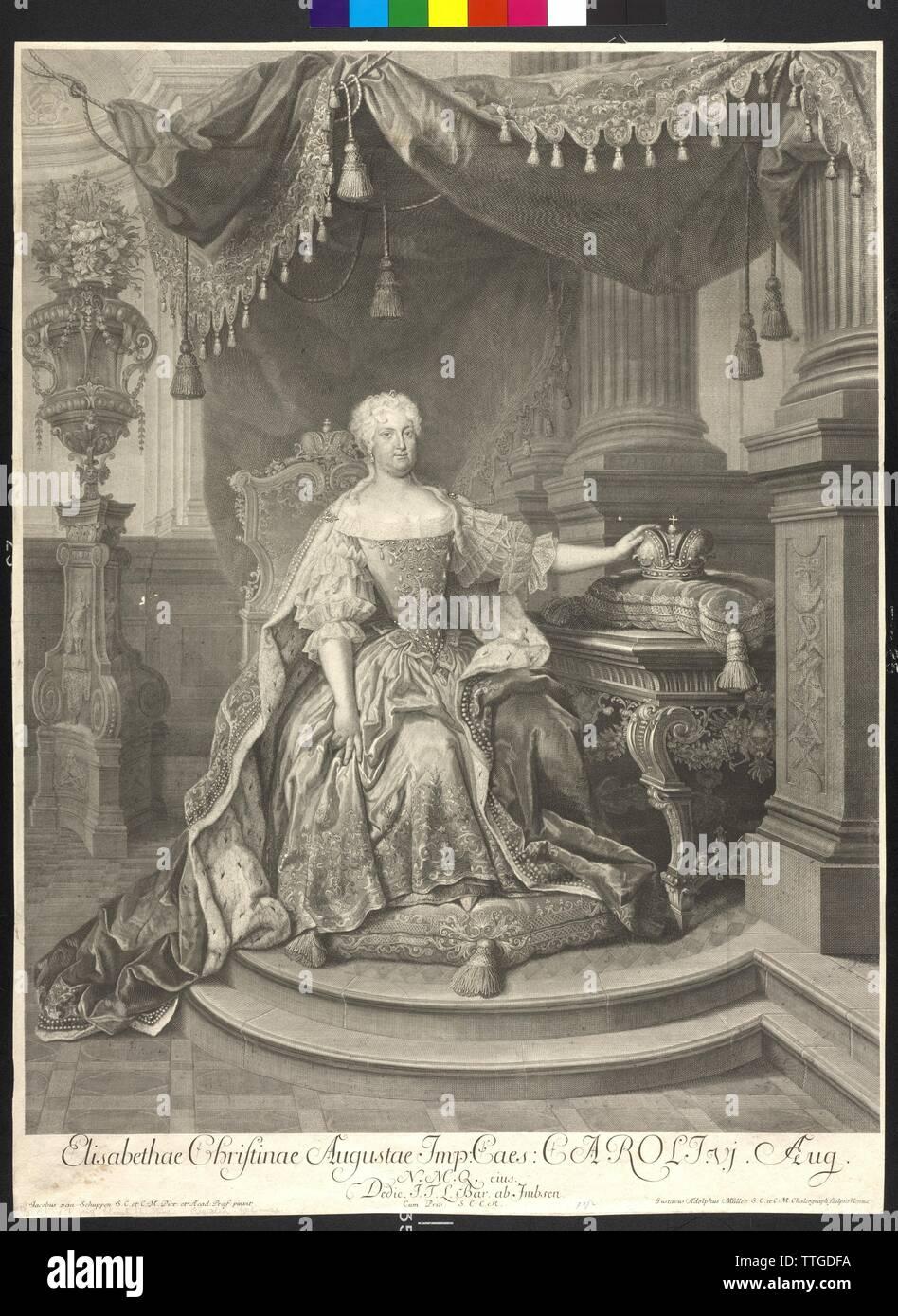 Elisabeth Christine, princess of Brunswick-Wolfenbuettel, copper