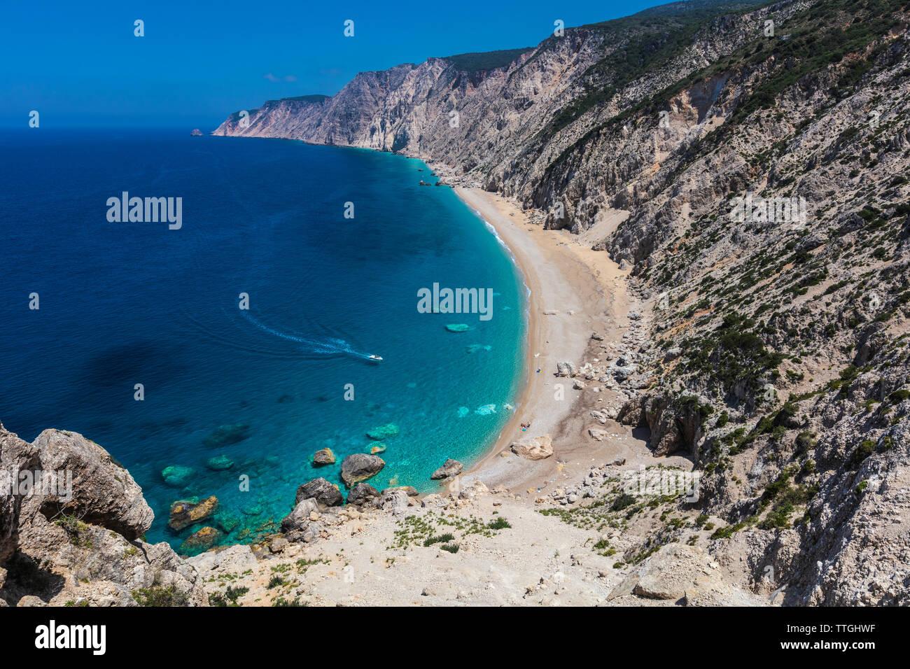 Ammos Beach, Kefalonia, Greece - Untouchable beach Stock Photo