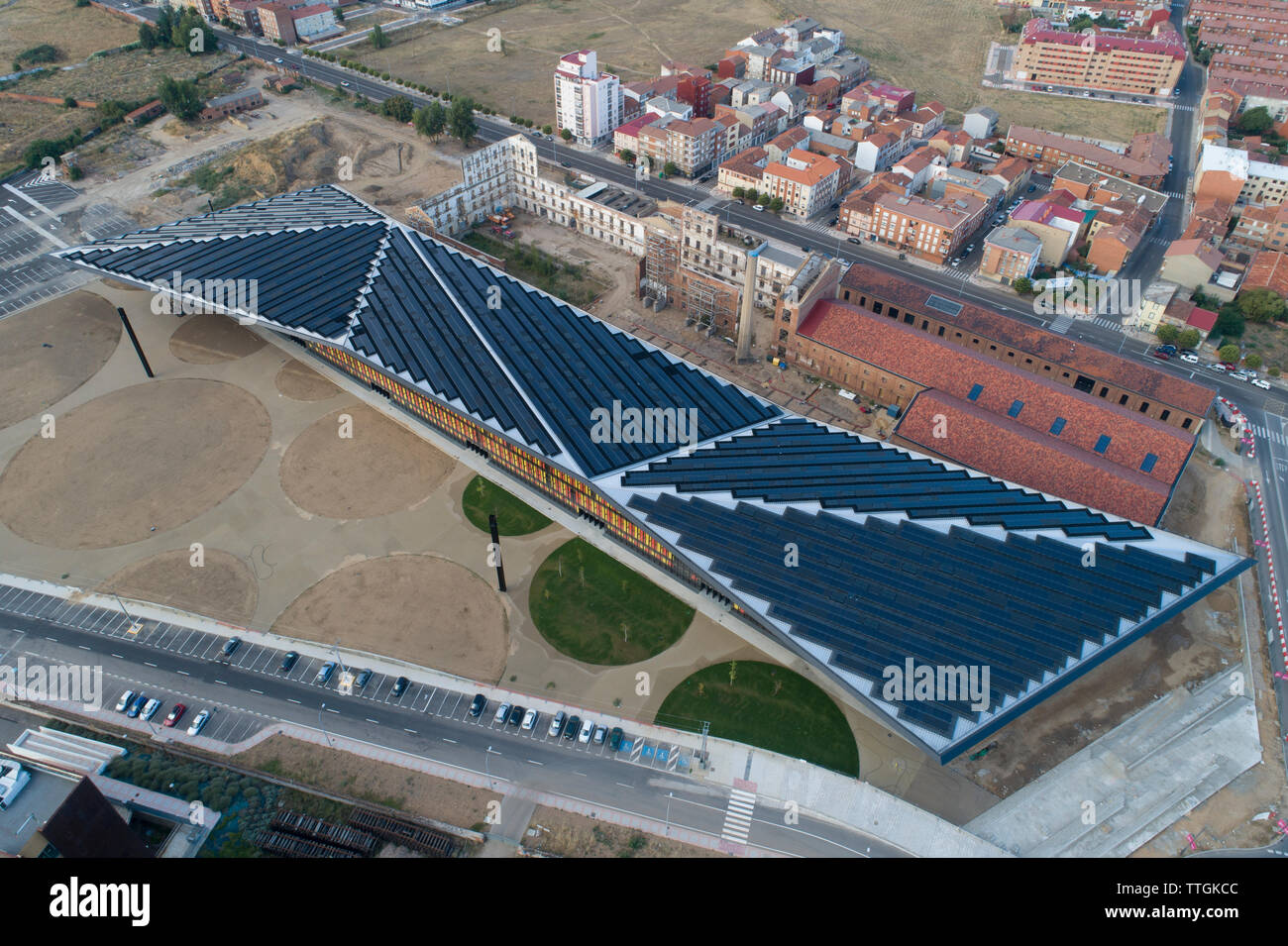 The palace of Congresses and Exhibitions of LeÌ_n, Spain. - Stock Image