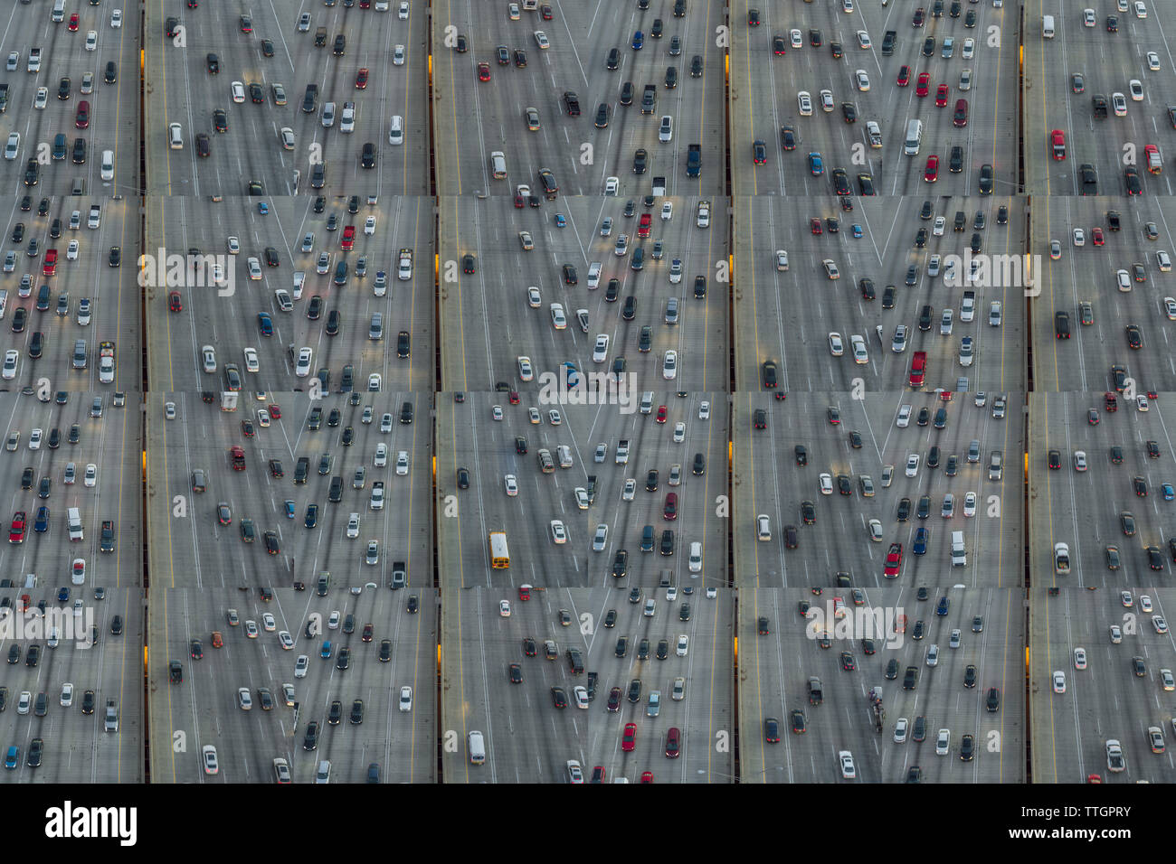 Freeway Collage, Downtown Atlanta, Georgia - Stock Image